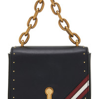 Cathy Studded Leather Shoulder Bag | Moda Operandi