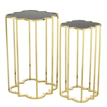Gold Side Table (Set of 2) | Eichholtz Concentric