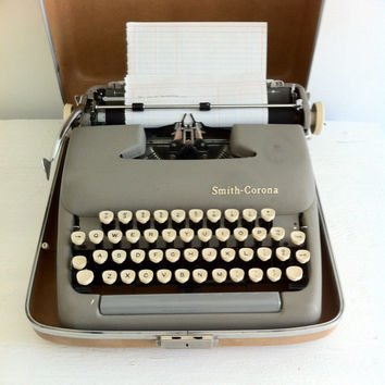 Vintage Smith-Corona Sterling Typewriter