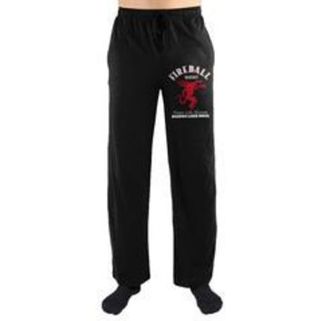 Fireball Whisky Dragon Logo Tastes Like Heaven Burns Like Hell Print Mens Loungewear Lounge Pants