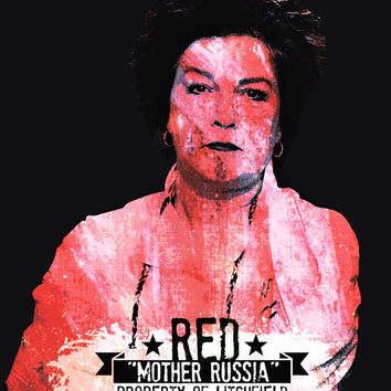 "OiTNB - RED 'MOTHER RUSSIA'- 8x11"" Digital Print by MoPS"