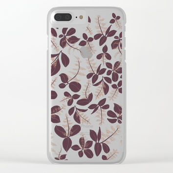 purpur // purple branches, delicate flowers Clear iPhone Case by Camila Quintana S