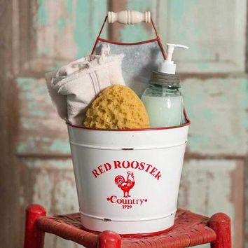 ** NEW ** Red Rooster Bucket Caddy