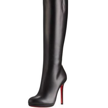 Christian Louboutin Botalili Tall Red Sole Boot