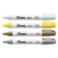 Permanent Paint Marker, Medium Point, Silver, Sold as 1 Each