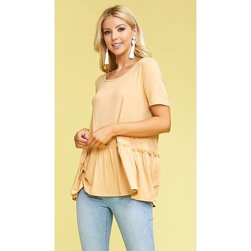 Basic Peplum for Simplicity or Layering TAUPE