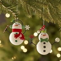 Assorted Glitter Mini Snowmen Ornaments$3.96$4.95
