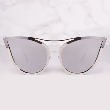 Expansion Cat Eye Mirrored Lens