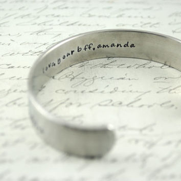 Design Your Own 2 Sided Secret Message Hand Stamped Bracelet