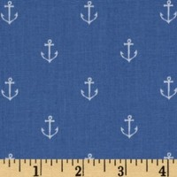 Michael Miller Out To Sea Anchors Away Boy Blue Fa