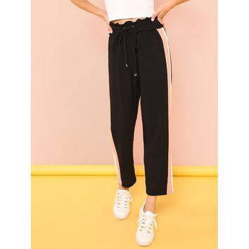Contrast Tape Side Pants