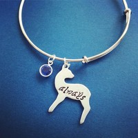 Always Doe Patronus Adjustable Bangle Bracelet Handmade from SHOW PONY