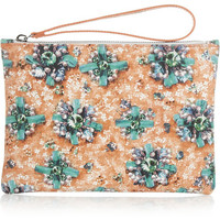 Mary Katrantzou | Printed brushed-leather pouch | NET-A-PORTER.COM