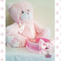 "BDSM ""Princess"" Collar, Princess Ribbon & Charm,O Ring,Pink Bow,lace,D Rings,Ribbon Ties,"