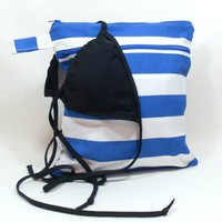 Wet Bag in Royal Blue Stripes