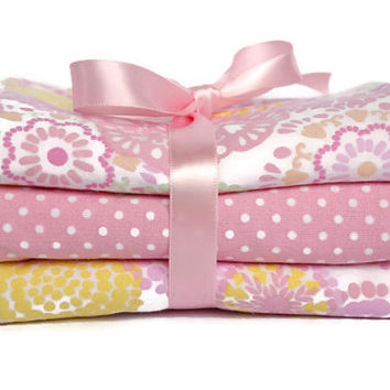Baby girl burp cloths- burp cloths girl- handmade burp cloths- custom burp cloths- pink burp cloths- baby gift set- boutique baby- burp pads