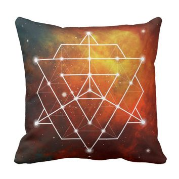 Sacred Geometry 1 Throw Pillow