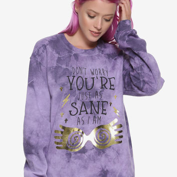 Harry Potter Luna Lovegood Just As Sane As I Am Girls Sweater