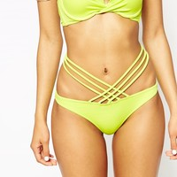 ASOS FULLER BUST Exclusive Cross Neck Lattice Bikini Top DD-G