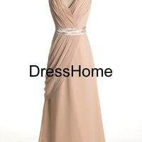 Bridesmaid Dresses - Champagne Bridesmaid Dress / Long Bridesmaid Dress / Prom Dress Champagne / Long Wedding Party Dress