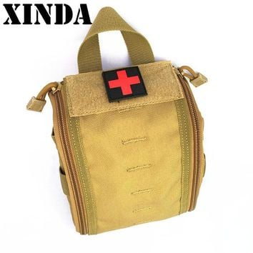 XINDA Brand New High Quality First Aid Utility Pouch Portable Empty Household Medical Pouch Outdoor Survival Rescue Bag KIM7761
