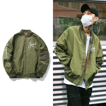 On Sale Hot Deal Sports Jacket Vintage Hip-hop Strong Character Baseball [272617439261]