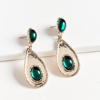 Emerald Rope Statement Drop Earring | Urban Outfitters