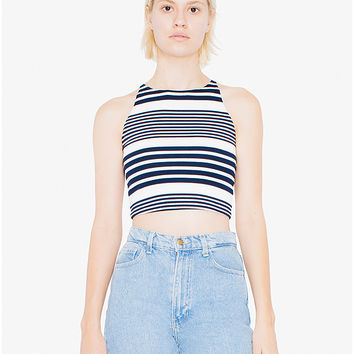Ponte Sleeveless Crop Top | American Apparel Factory Store