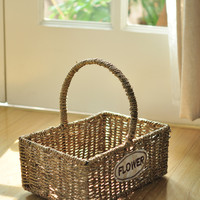 Pastoral Style Handcrafts Sea Bowl Storage Basket [6283512198]