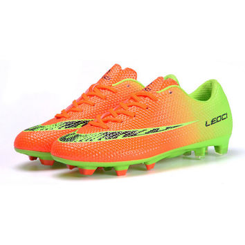 Men Soccer Shoes Sport Football Shoes for Man Boys Outdoor Long Spikes Football Sneakers Soccer Shoes 33-44
