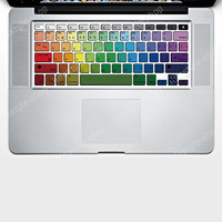 "Rainbow Keyboard Vinyl Decal Laptop Sticker Skin for Apple MacBook Pro 13""15""17"""