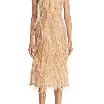 Jason Wu Ostrich Feather Trim Strapless Dress | Nordstrom