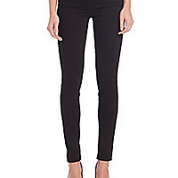 7 For All Mankind - Black Skinny Jeans with Signature Pockets - Saks Fifth Avenue Mobile