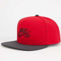 Nike Sb Icon Mens Snapback Hat Red One Size For Men 24429830001