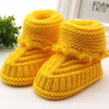 Baby Handmade Knitted Shoes Booties