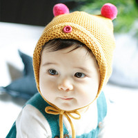 Blenda Pom Pom Ear Knit Bonnet