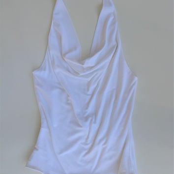 Y Yigal Draped Halter Neck Backless Top S