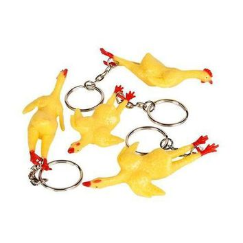 Rubber Chicken Key Chain