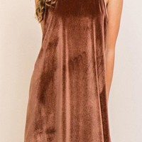 Entro Velvet Shift Dress