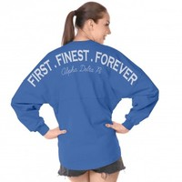 First. Finest. Forever, Alpha Delta Pi Spirit Football Jersey® Alpha Delta Pi A