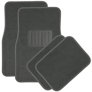 "OxGord 4-Piece Full Set Heavy Duty ""DELUXE"" Carpet Floor Mats, Universal Fit Mat for Car, SUV, Van & Trucks, Front & Rear, Driver & Passenger Seat"