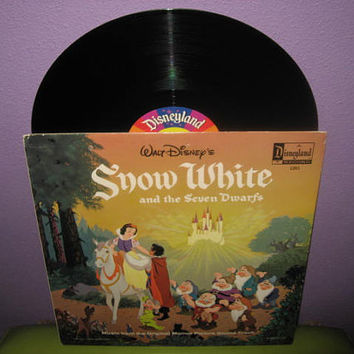 Vinyl Record Album Disney's Snow White and the Seven Dwarfs Story & Songs LP 1969 Childrens Classics