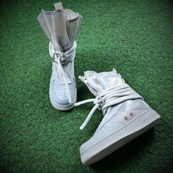 ESBU3S Sale Newest Nike SF Air Force 1 High AF1 Beige Functional Boots AA1128-201