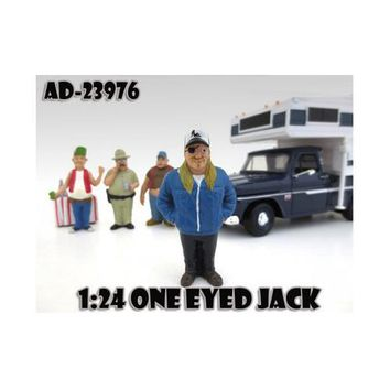 """One Eyed Jack """"Trailer Park"""" Figure For 1:24 Diecast Model Cars by American Diorama"""