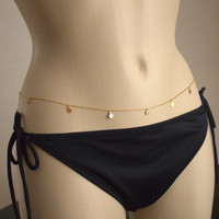 Hot New  Body Jewelry Street Beat Fashion Sexy Sequined Waist Body Chain