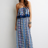 Layered Southwestern Print Dress