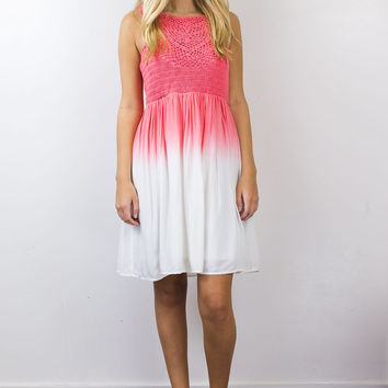 High Neck Ombre Dress