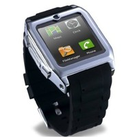 new touch Screen Smartwatch Bluetooth Watch Mobile Phone MP3 Video Camera GSM FM bluetooth connect Android phones smart watch. (Black)