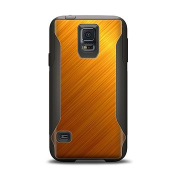The Gold Brushed Aluminum Surface Samsung Galaxy S5 Otterbox Commuter Case Skin Set