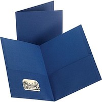 Staples® 2-Pocket Folder, Dark Blue | Make More Happen at Staples®
